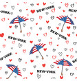 travel usa seamless pattern love new york city vector image