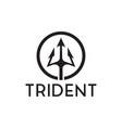 trident logo inspiration vector image