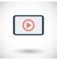Video player flat icon vector image vector image