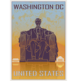 Washington DC vintage poster vector image