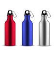 water metal bottle reusable drinking blank vector image