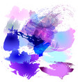 watercolor brush strokes of vector image vector image