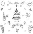 Wedding party doodle art vector image vector image