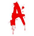 Wet Paint Font Type vector image vector image