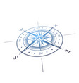 wind rose perspective vector image vector image