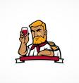 Wine Maker cartoon character vector image