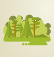 Flat trees abstract island vector image