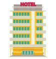 hotel flat vector image