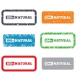 100 percent natural sign Organic food symbol vector image