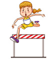 A simple sketch of a girl joining a triathlon vector image vector image