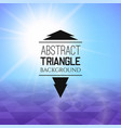 abstract blue sunset with violet triangle field vector image vector image