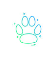 animal paws icon design vector image vector image