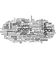 armchair olympian text word cloud concept vector image vector image