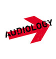 audiology rubber stamp vector image vector image