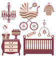 Baby shower collection vector image