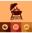 barbecue design elements vector image vector image