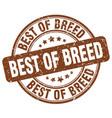 best of breed brown grunge stamp vector image