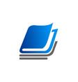 book school education logo vector image vector image