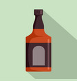bottle of rum icon flat style vector image vector image