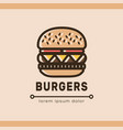 burger logotype template vector image