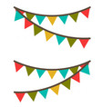 carnival garland with flags decorative colorful vector image