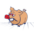 cartoon evil pig vector image vector image