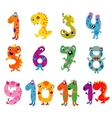 Cartoon monsters numbers vector image