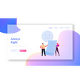 claim customer landing page template tiny vector image vector image