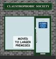 claustrophobic society vector image vector image