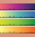 cleveland multiple color gradient skyline banner vector image