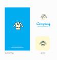 coat company logo app icon and splash page design vector image vector image