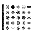 collection beautiful snowflakes vector image