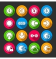Collection of coins for finance or money app vector image vector image