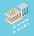 commersial construction building layout poster vector image