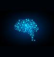 creative concept human brain vector image