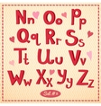 drawn type font in retro style vector image vector image