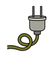 electric plug isolated icon design vector image