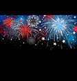 fireworks background design vector image