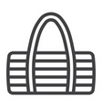 fitness bag line icon fitness and sport vector image