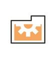 folder file web development icon line and fill vector image