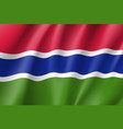 gambia realistic flag vector image