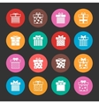Gift boxes icons set over black vector image vector image