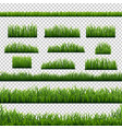 green grass panorama transparent background vector image vector image