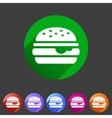 Hamburger burger icon flat web sign symbol logo vector image vector image
