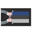 Hand made flag of Estonia vector image vector image