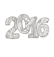 Happy New Year 2016 celebration number vector image
