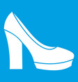 high heel shoes icon white vector image vector image