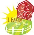 I Farm vector image vector image