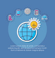 innovation and technology design vector image