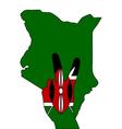 Kenya hand signal vector image vector image